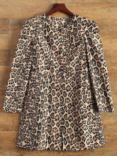 Leopard Print Skirted Coat - Leopard M