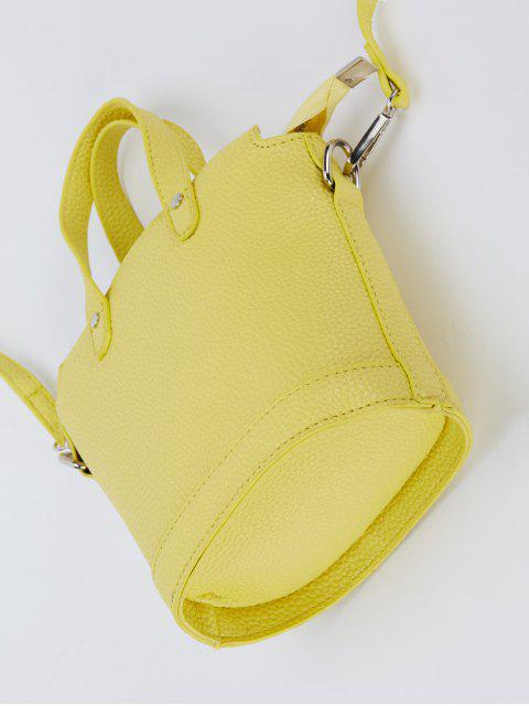 womens Textured Crossbody Handbag - YELLOW  Mobile