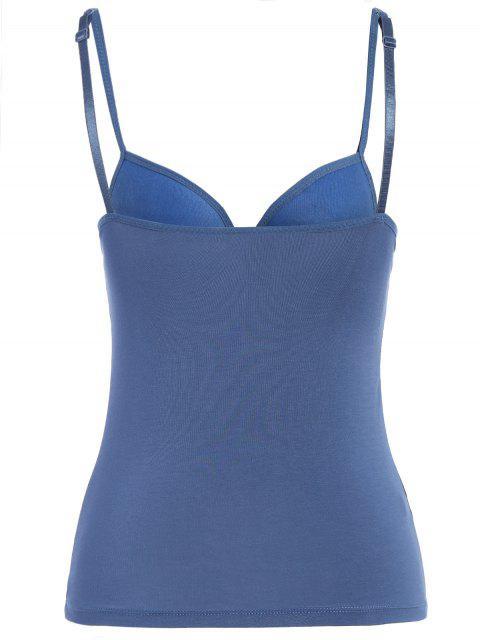 fashion Padded Camisole Bra Tank Top - DEEP BLUE M Mobile