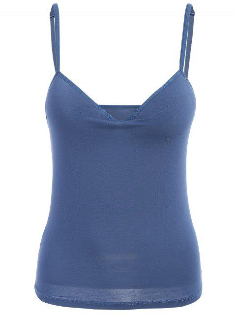 chic Padded Camisole Bra Tank Top - DEEP BLUE L Mobile