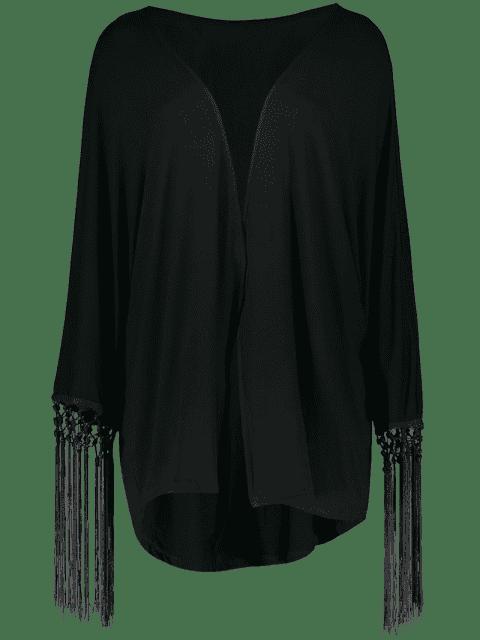 outfit Tassel Moon Print Kimono - BLACK XL Mobile
