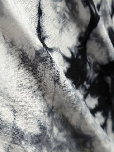 T-shirt tie dye asymétrique - Gris XL Mobile