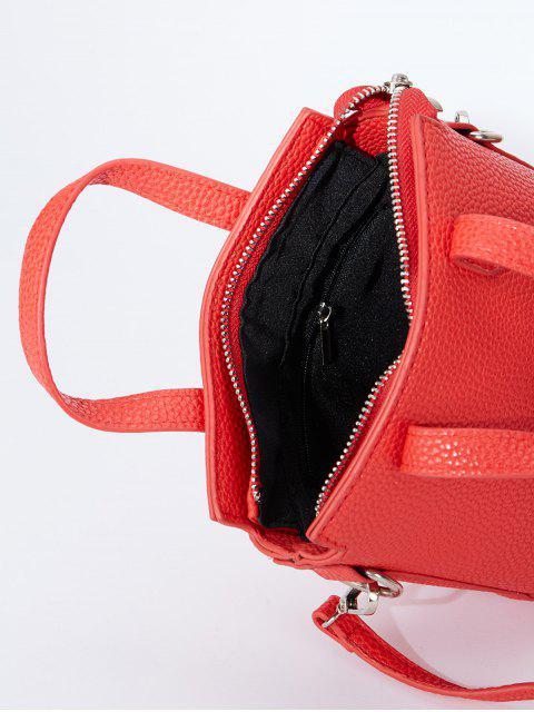 affordable Textured Crossbody Handbag - RED  Mobile