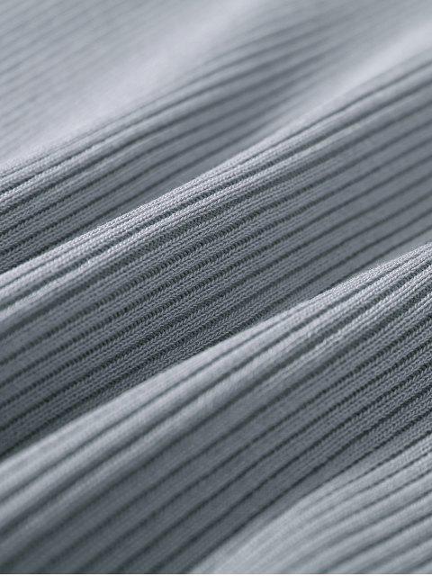 Robe de  sweater  courte et moulante à manches dénudés - Gris TAILLE MOYENNE Mobile