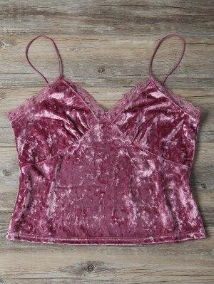 Sweatheart Velvet Cami Top - Deep Pink L
