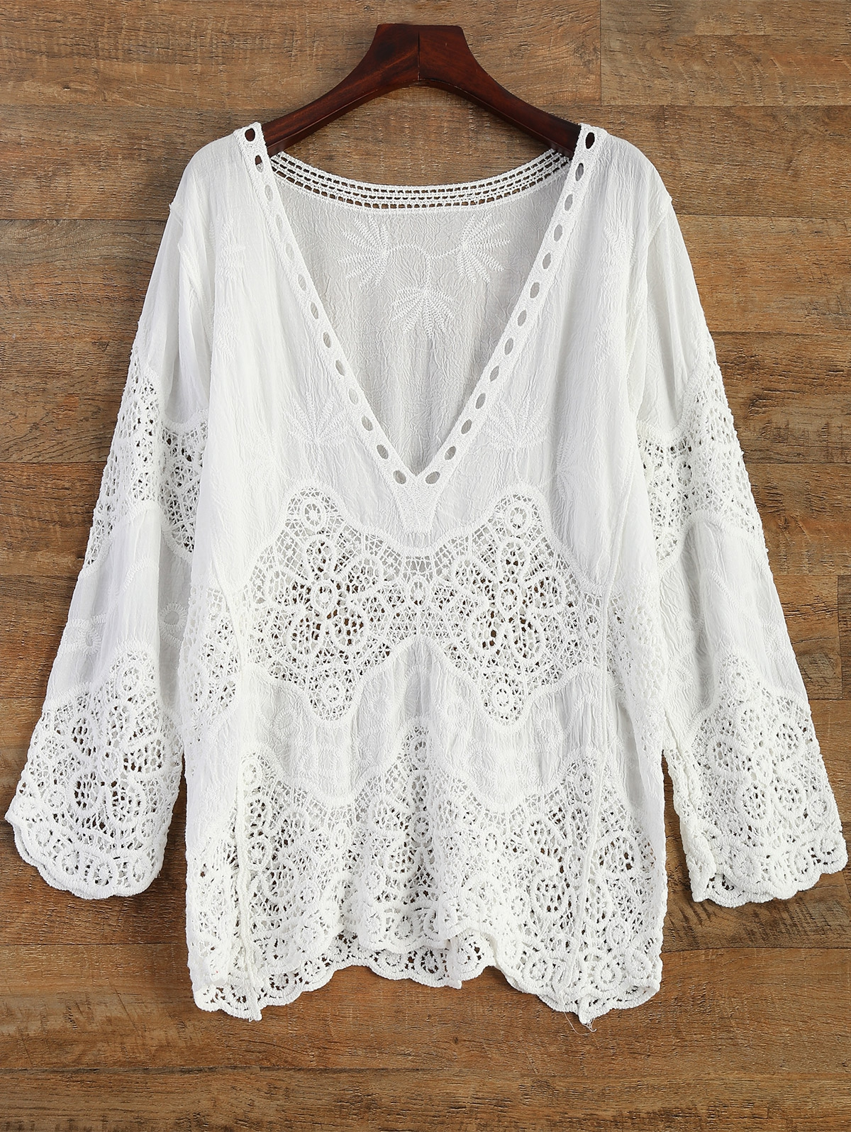 Crochet Plunge Beach Cover-Up Dress