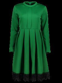 لاسيورك الوقوف طوق مضيئة اللباس - أخضر S