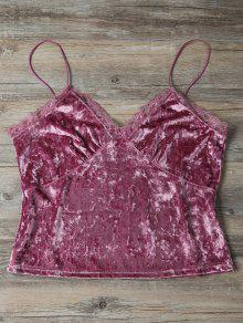 Sweatheart Terciopelo Cami - Rosa Oscuro L