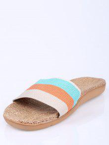 sale finishline pay with visa sale online Linen Colour Block Indoor Slippers - Orange Size(37-38) kF0uq