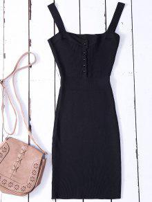 فستان سويت ضيق بلا أكمام - أسود