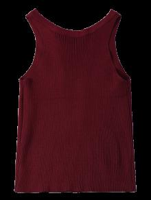 Cropped Lace Up Sweater Tank Top WINE RED: Sweaters ONE SIZE | ZAFUL