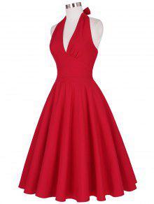 Robe de soiree rouge decollete