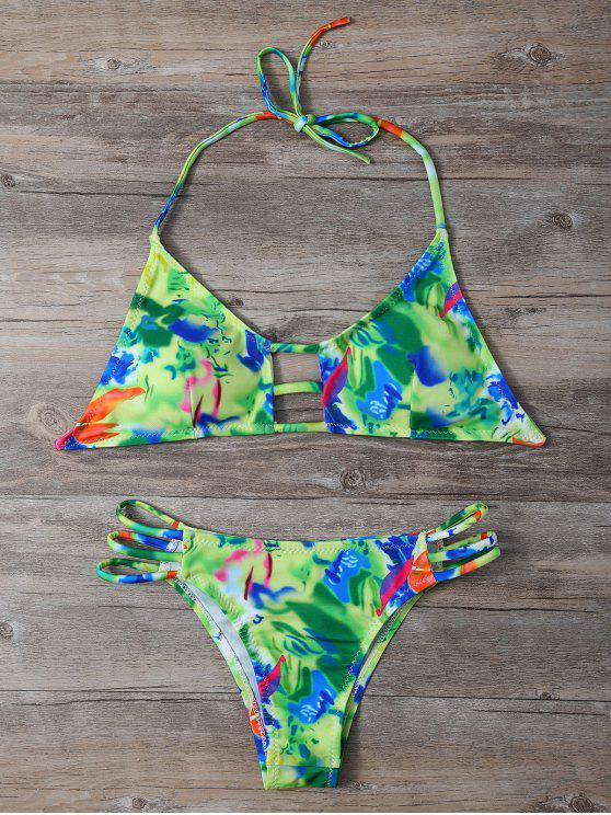 outfits String Cutout Bikini Set - COLORMIX M