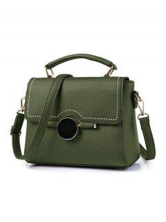 Batió Bolso Del Remache Textura - Verde Negruzco
