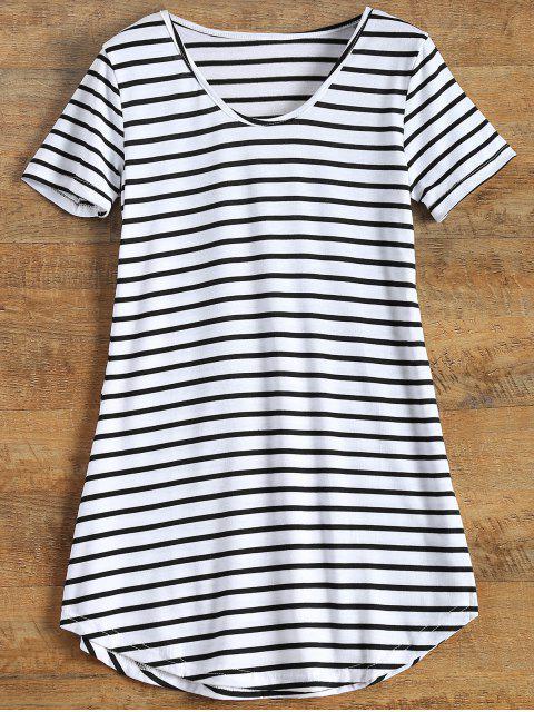 Stripes Short Sleeve Kleid - Streifen  S Mobile