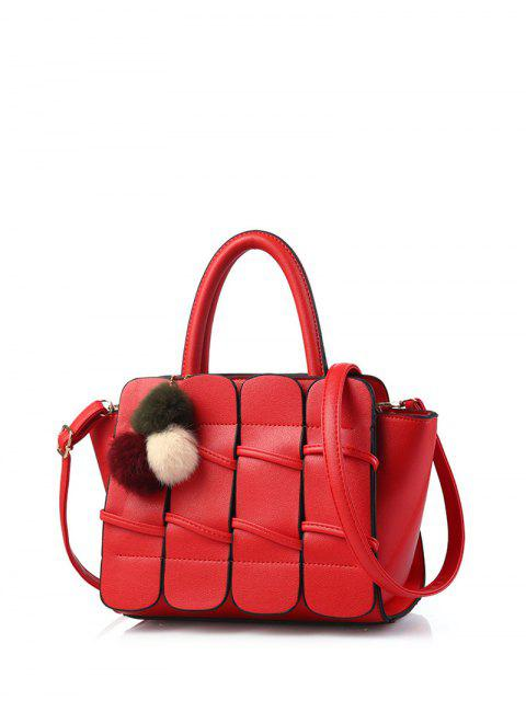 best Patches Winged Pompon Detail Handbag -   Mobile