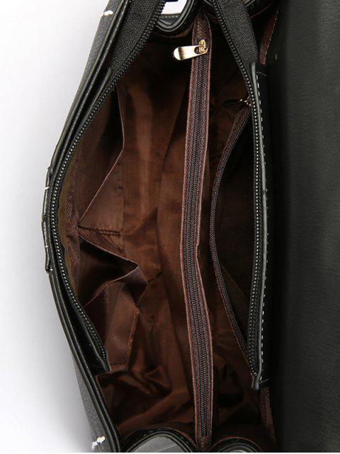 latest Stiching Buckle Strap Handbag - PINK  Mobile
