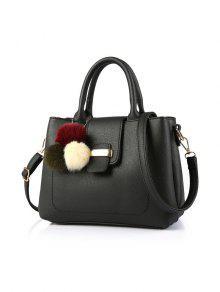 Buy Faux Leather Handbag Pom - BLACK
