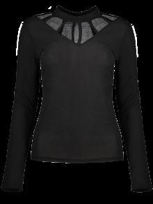 Panel De Malla Equipada Gargantilla La Camiseta - Negro L