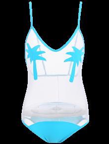 Palme Sehen Durch Schiere Badebekleidung - Meeresblau M