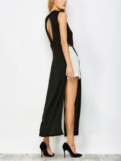 High Slit Cutout Maxi Dress - Black S