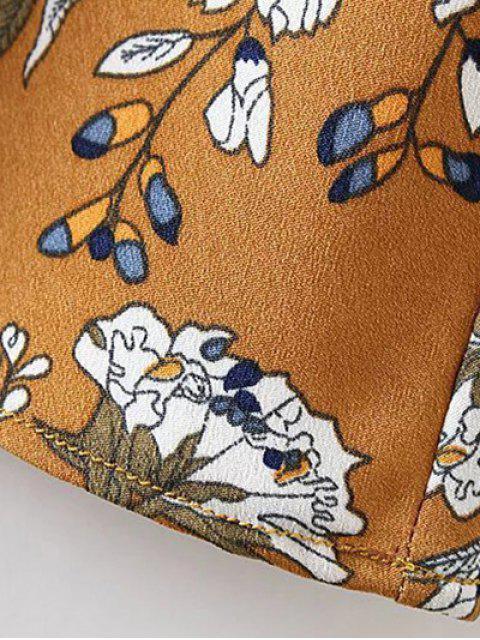 fancy Mini Low Back Floral Slip Dress - CADETBLUE M Mobile