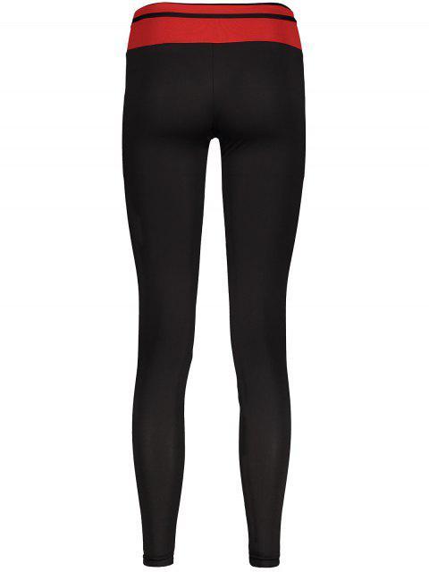 affordable Skinny Active Leggings - BLACK M Mobile