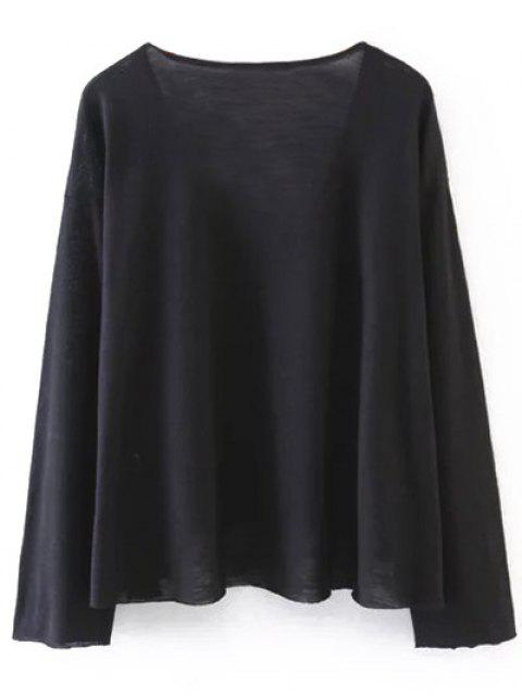 unique Long Sleeve Swing Tee - BLACK S Mobile