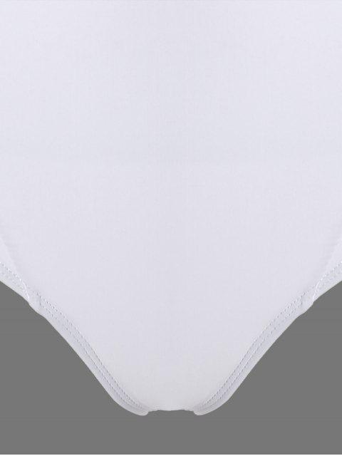 Cami Maillot 1 Pièce à Bretelles Dos Ouvert - Blanc S Mobile