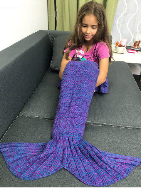 fancy Knitted Sleeping Bags Mermaid Tail Blanket -   Mobile