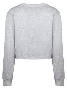 Grey Cropped Sweatshirt FLfNpA