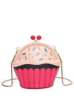 Novelty Cupcake Shaped Crossbody Bag - Pink