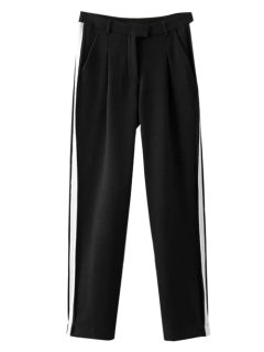 Color Block Activewear Pants - Black M