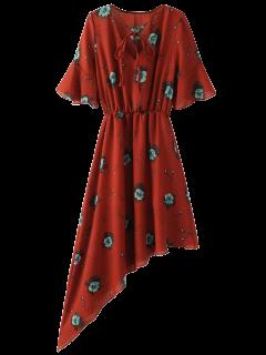 Asymmetric Floral Dress - Jacinth S
