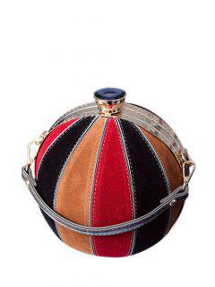 Color Block Spherical Evening Bag