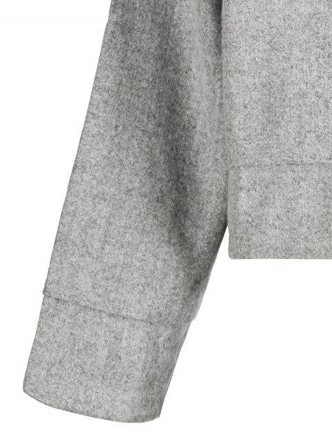 online Loose Woolen Hoodie - GRAY S Mobile