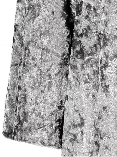 Robe surdimensionnée à Capuche en velours - Gris L Mobile