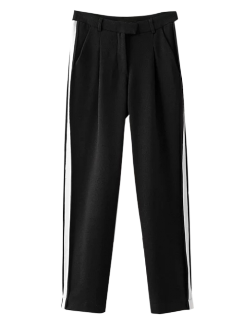latest Color Block Activewear Pants - BLACK M Mobile