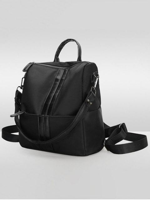 latest PU Insert Nylon Backapck - BLACK  Mobile