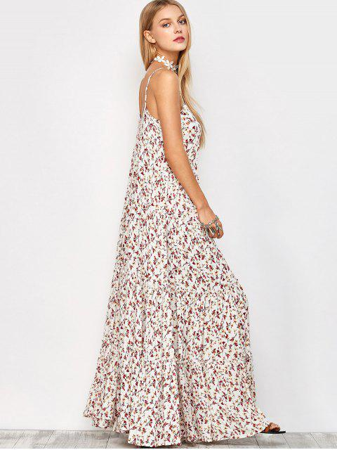 lady Maxi Floral Printed Slip Dress - FLORAL M Mobile