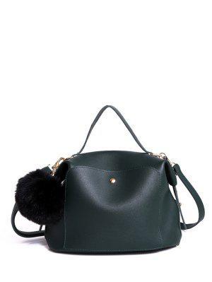 Slouchy Handtasche mit Pom Pom-Detail