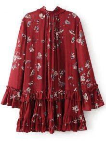 Floral Pleated Tunic Dress