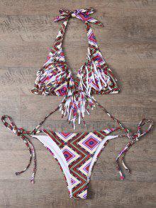 Tile Imprimer Bordée Bikini String - M