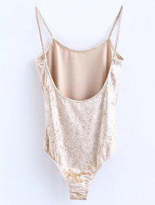 b74e3165e6 Skinny Velvet Bodysuit  Skinny Velvet Bodysuit. trendy Skinny Velvet  Bodysuit - CHAMPAGNE M