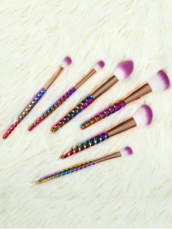 Set 6 Piezas Pinceles Maquillaje Ombre Agarradera Nylon - Dorado