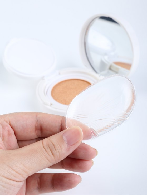 latest Oval Silicone Makeup Sponge - TRANSPARENT
