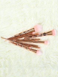 Set Pinceaux De Maquillage 10 Pcs - Or Rose