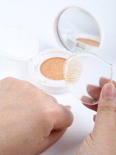 Éponge De Maquillage En Silicone En Forme De Goutte - Transparent