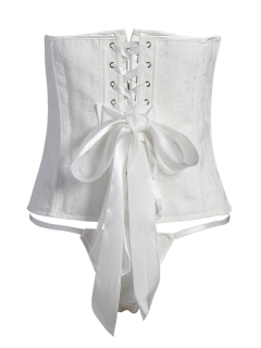 Steel Boned Corset Wedding Bridal - Blanc S