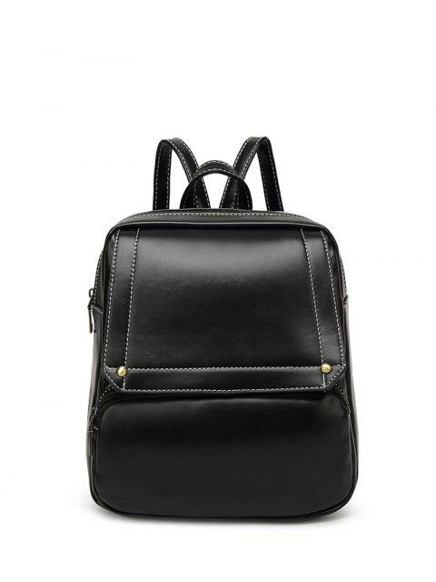 lady Preppy Faux Leather Backpack -   Mobile
